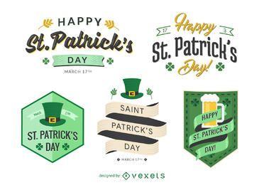 conjunto emblema plana de St. Patrick