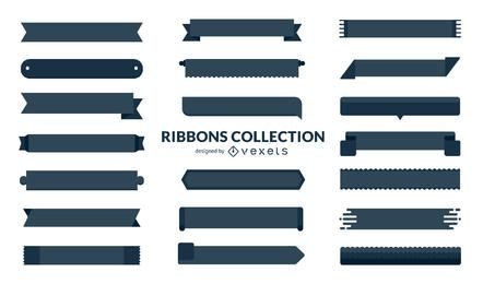 Huge set of flat ribbons