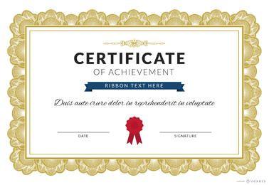 Certificado del fabricante de logro