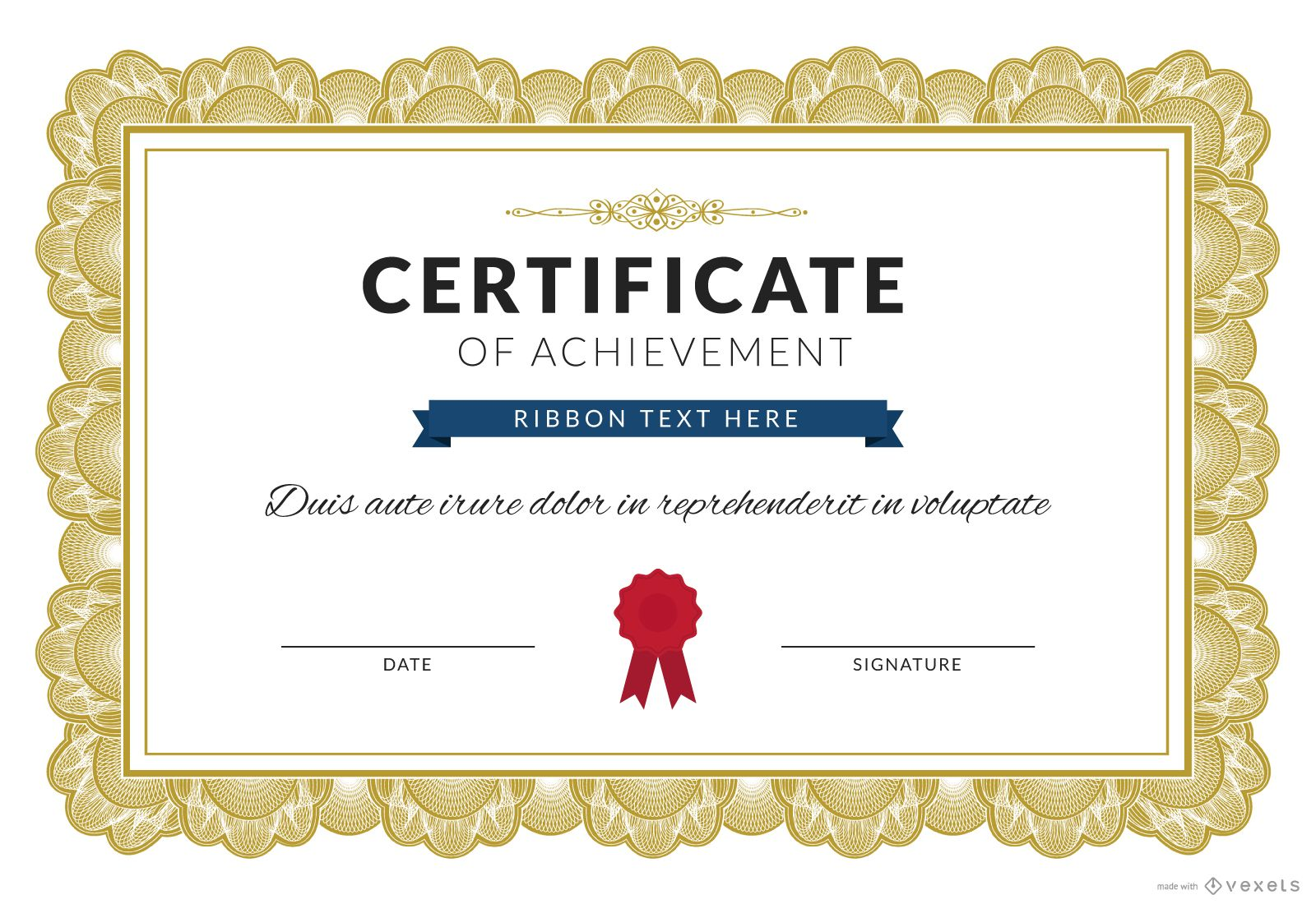 Certificate vector graphics to download certificate of achievement maker 1betcityfo Gallery