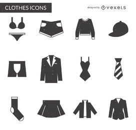 Itens de vestuário embalar em cinza
