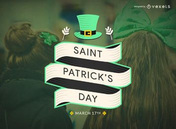 Flat St Patrick's Day badge
