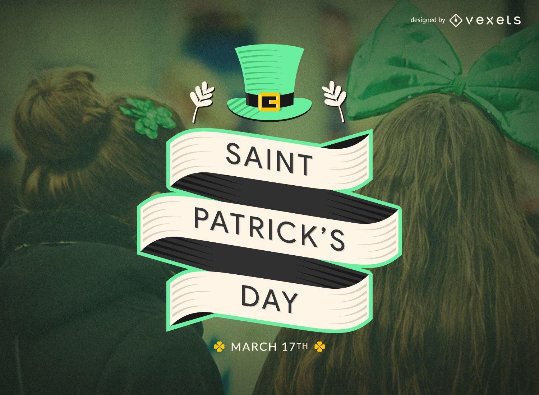 Flat St Patrick's Day badge