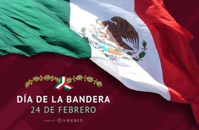 Poster del D�a de la Bandera de Mexico
