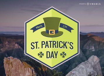 St Patrick's hexagonal badge