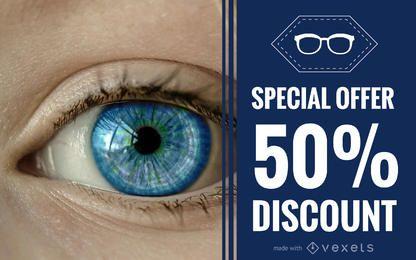 Ophthalmology promo banner maker