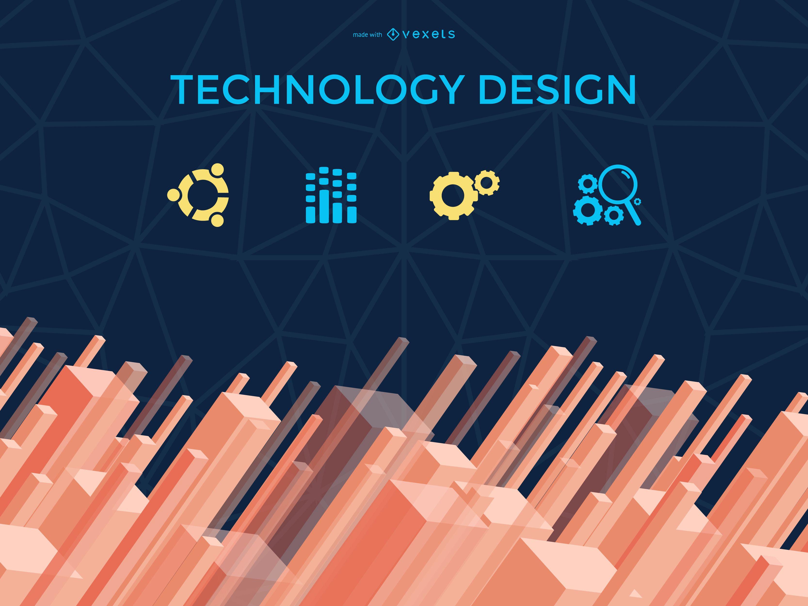 Creador de diseño de tecnología