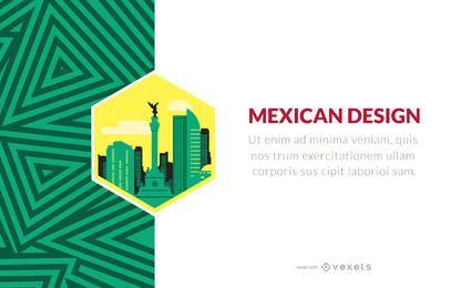 Diseñador mexicano con patrones y etiquetas