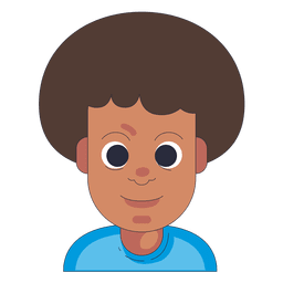 Afro hair boy neutral face