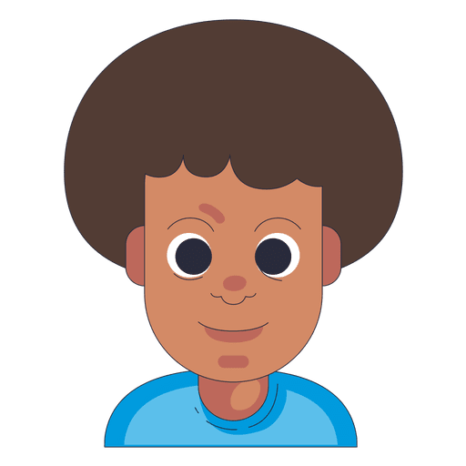 Afro Hair Boy Neutral Face Transparent Png Amp Svg Vector