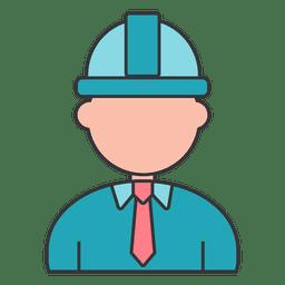 Arquitecto constructor de casco de seguridad