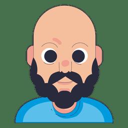 Baldy beard man