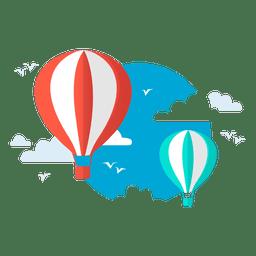 Ballon-Heißluftflug