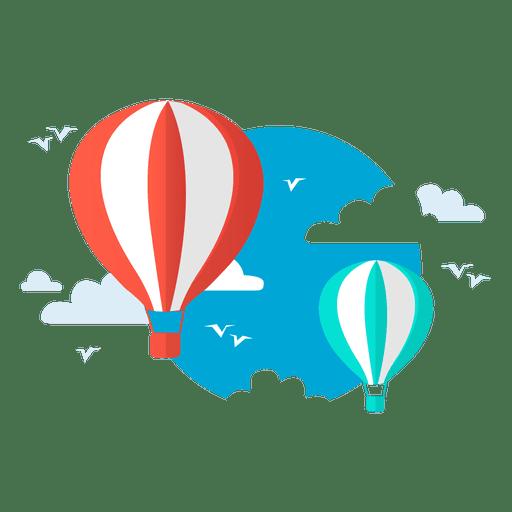 Voo de ar quente de balão Transparent PNG