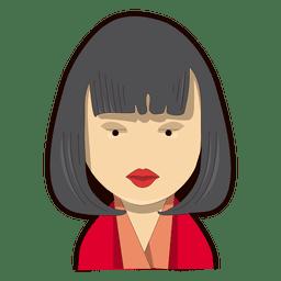 Mulher do cabelo de Bob batom vermelho