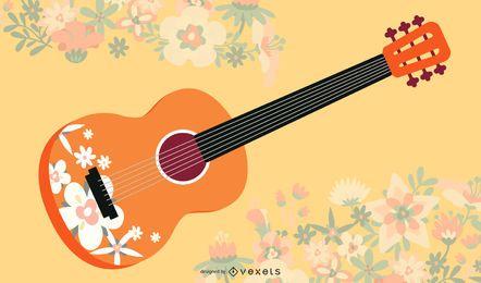 Ilustración de guitarra