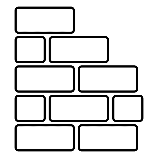 Bricks Wall Rounded Rectangle Transparent Png Svg Vector