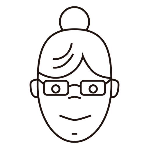 bun women with glasses Transparent PNG