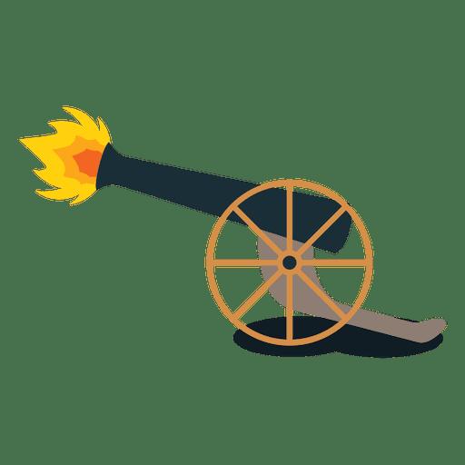 Disparo de cañón de artillería de fuego. Transparent PNG