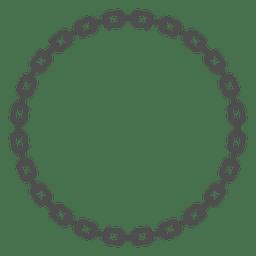 Cadena de enlaces redondos
