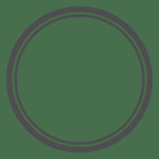 Círculos vazios concêntricos Transparent PNG
