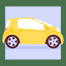 Stadtauto gelb Seitenansicht