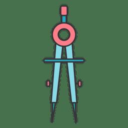 Farbkompassbogen technische Zeichnung
