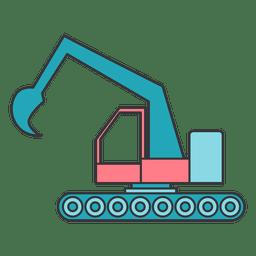Maquinaria de escavação colorida da máquina escavadora