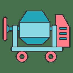 Concrete mixer blending transportable