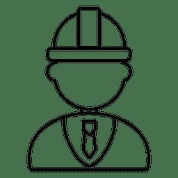 Desenhos da planta do coordenador de construção