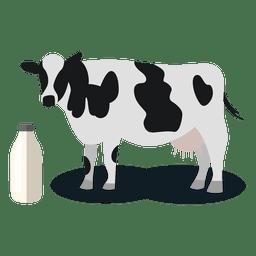 Leche de vaca animal