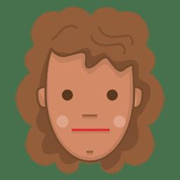 Featureless chestnut hair girl