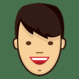 Fringe black hairs smile