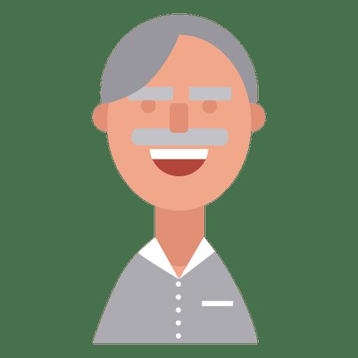 Grandpa cheerful mustache Transparent PNG