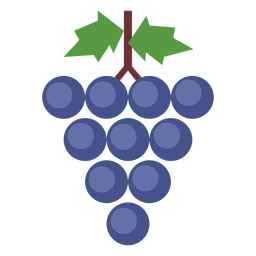 Grapes leaves cluster