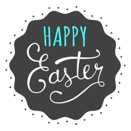 Happy easter black background message