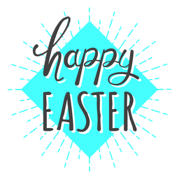 Happy easter blue light message