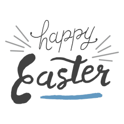Happy easter message pencil