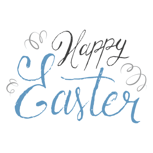 Happy easter pen confetti - Transparent PNG & SVG vector