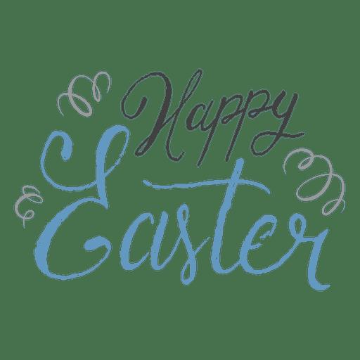 Happy easter pen confetti Transparent PNG