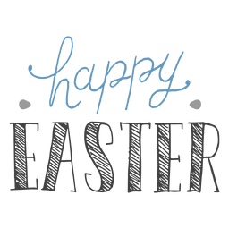 Happy easter pen message