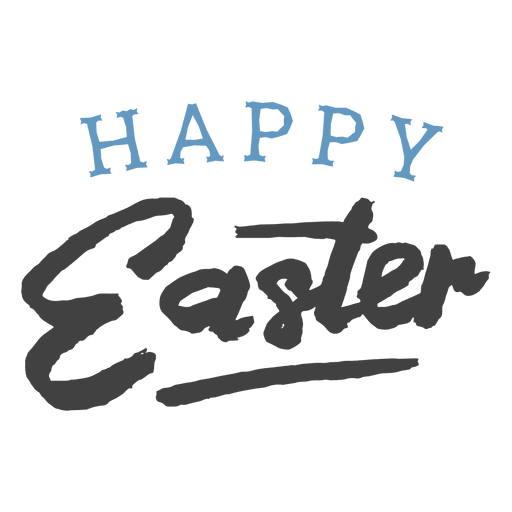 Happy easter simple  Confetti bold Transparent PNG