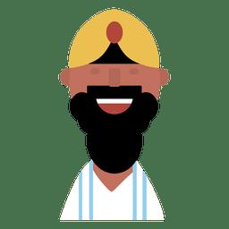 Hombre hindú alegre barba