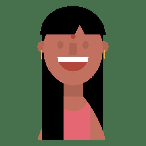 Hindu woman cheerful  Golden earrings