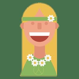 Hippie flower children woman