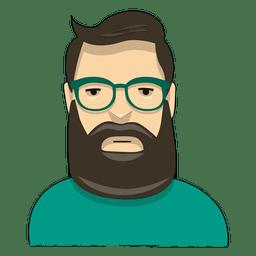 Barba de viajante verde hipster