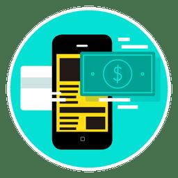 Aplicación de pago móvil para smartphone.