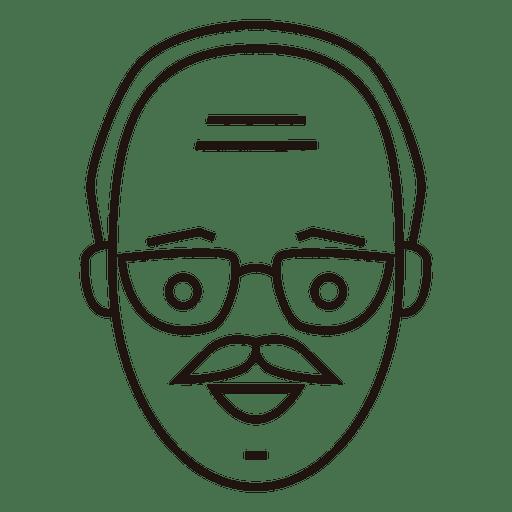 Viejo hombre suave mirada bigote Transparent PNG