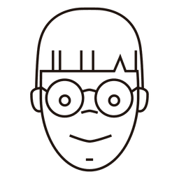 Estudiante optimista gafas redondas