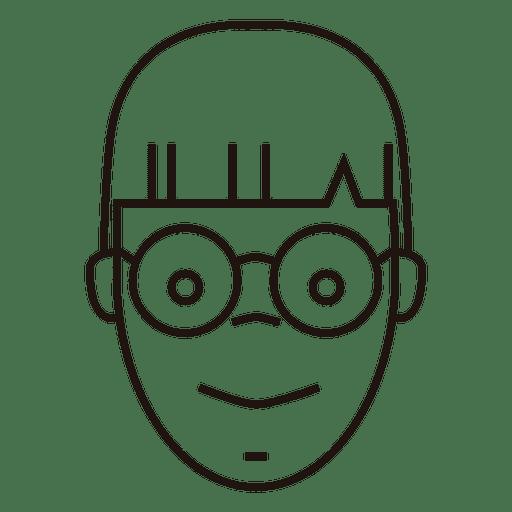 Optimistic student round glasses